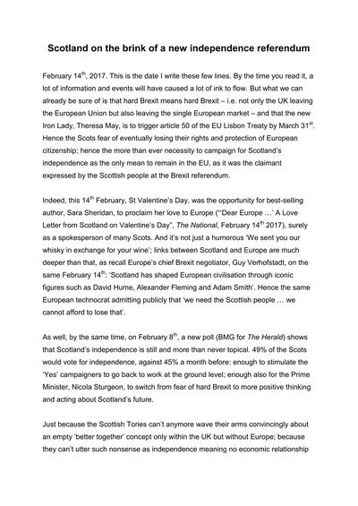 Scotland on the brink of a new independence referendum - page 1
